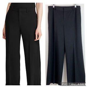 Ralph Lauren flat front stretch wide leg pants EUC